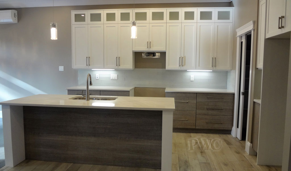 New home custom shaker style cabinets