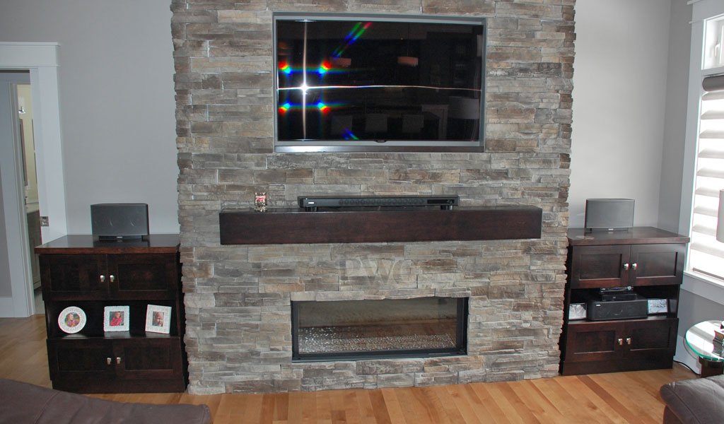 Entertainment Centre and Fireplace